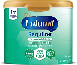 Enfamil Reguline Constipation Baby Formula Milk Powder to Promote Soft Stools, Omega 3, Prebiotics, Iron, Immune Support, 19.5 Ounces (Packaging May Vary)
