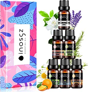 Inosgz Essential Oils Set Blends Oils Top 6 100% Pure Aromatherapy Diffuser Oils Therapeutic Grade Kit Rosemary Oils for H...