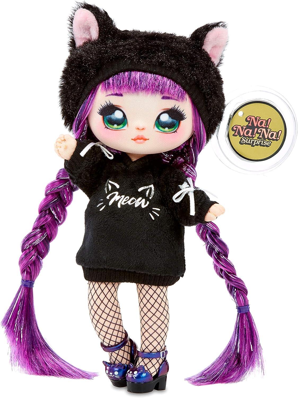 Na! Na! Na! Surprise 3-in-1-Rucksack-Schlafzimmer-Pinkhasen-Spielset mit limitierter Aubrey-Herzpuppe Black Kitty
