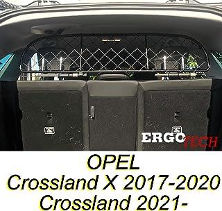 ERGOTECH Trennnetz Trenngitter kompatibel mit OPEL Crossland X (2017 2020) & Crossland (ab BJ 2021), RDA65 XS, für Hunde und Gepäck.