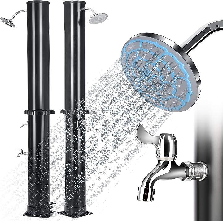 Doccia solare con serbatoio 35l doccia da giardino piscina e esterno con l'acqua calda e fredda gartio B091TW74RR