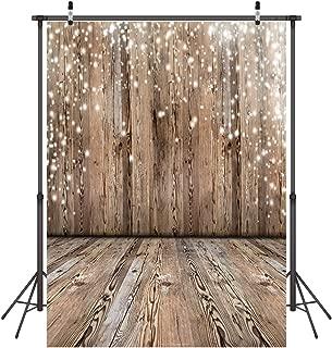 LYWYGG Nostalgia Wood Floor Pattern Photography Backdrop 5x7ft Vinyl Photography Background Studio Props CP-17
