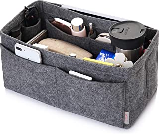 CEEWA Felt Purse Organizer, Multi Pocket Bag in Bag Organizer For Tote & Handbag Shaper, Speedy 30, Speedy 35 and Speedy 40, Medium, Large, Extra Large (Medium, Grey)