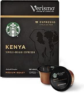 Starbucks Verismo Kenya Espresso Single-Serve Verismo Pods, 6 Boxes of 12 (72 total Verismo pods)
