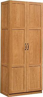 35.43 x W 61.02 16.73 x H L Sauder 416825 Harbor View Storage Cabinet Salt Oak finish