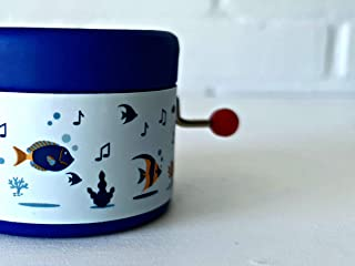 Little music box decorated with under the sea world and the melody Hey Jude by The Beatles