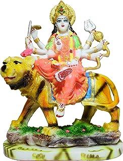 GW Creations Goddess Maa Durga Devi Idol Statue Sherawali MATA Rani Spiritual Puja Vastu Showpiece Figurine - Religious Mu...