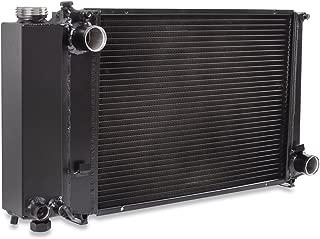 Radiador de refrigeraci/ón de alto flujo con motor de doble n/úcleo de aluminio negro 45 mm