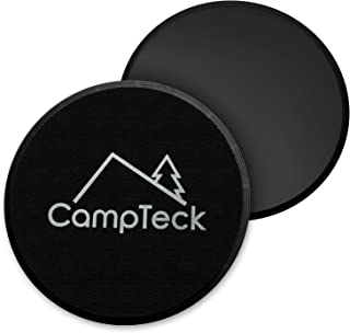 CampTeck 2x Dual Sided Gliding Discs Core Sliders for Home Fitness Workout, Abdominal & Full Body Exercises For Use on Carpet & Hard Floors