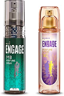 Engage M3 Perfume Spray For Men, 120ml And Engage W2 Perfume Spray For Women, 120ml
