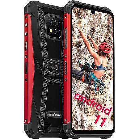 "Móvil Resistente Android 11, Ulefone Armor 8 Pro Móvil Antigolpes, 6GB RAM + 128GB ROM (SD 1TB), Helio P60 Octa-Core 4G Smartphone IP68, 6.1"" HD+, Batería 5580mAh, Cámara 16MP+8MP, NFC, Tipo C -Rojo"