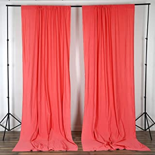BalsaCircle 10 ft x 10 ft Coral Polyester Photography Backdrop Drapes Curtains Panels - Wedding Decorations Home Party Reception Supplies