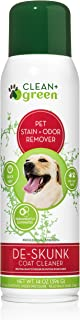 Clean+Green Professional Strength DeSkunk Coat Relief and Odor Remover, Deodorizer, for Dogs, 14 Ounce