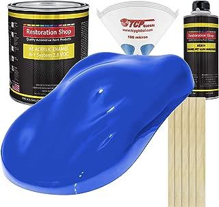 Restoration Shop - Complete Gallon Kit - Reflex Blue Acrylic Enamel Single Stage Car Auto Paint