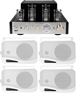 """Rockville BluTube Tube Amplifier/Home Theater Bluetooth Receiver+(4) 4"""" Speakers"""