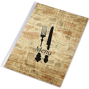 DWA Carta Menú de Mesa Restaurante Pub Hotel Catering Porta Menú 12 Páginas Tamaño A4 Board: Amazon.es: Hogar