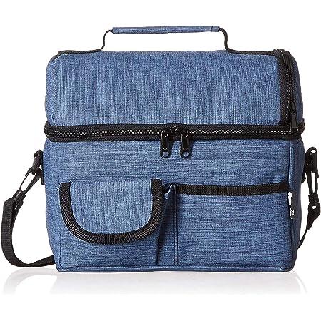 PuTwo Sac Isotherme Grande Capacité 8L Sac Repas Pour Enfant Travail Pique-Nique - Bleu Jean