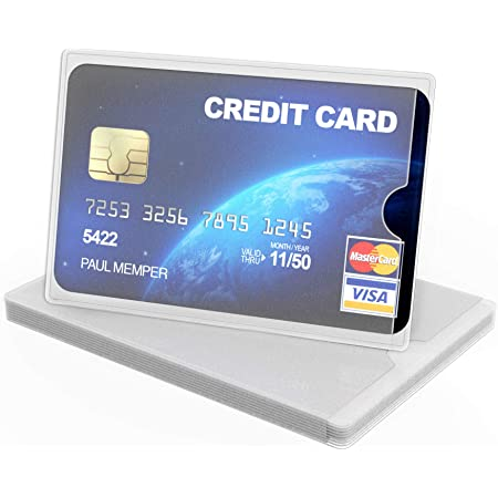 kwmobile Credit Card Sleeves - 10x Soft TPU Holder for Cards - Matte Transparent