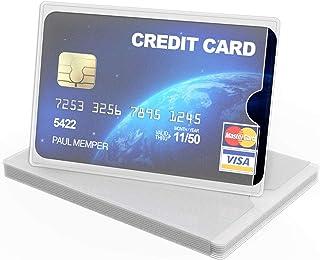 kwmobile 10x custodie protettive portacarte - Protezione portatessere carta di credito tessera sanitaria patente bancomat ...