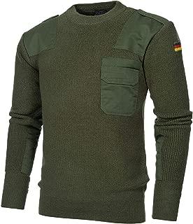 BW Pullover mit Brusttasche Bundeswehr Pulli schwarz oliv blau 48-62 Troyer