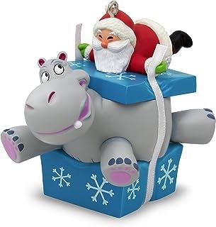 Best Hallmark Keepsake 2017 I Want A Hippopotamus For Christmas Santa Musical Christmas Ornament Review