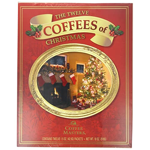 Coffee Masters The Twelve Coffees of Christmas Variety Pack, 18-Ounce