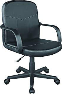 Comfort Products Bonded Leather Mid-Back Office Chair, Black