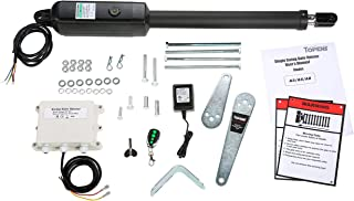 TOPENS A5 Automatic Gate Opener Kit Medium Duty Single Gate Operator for Single Swing Gates Up to 16 Feet or 550 Pounds, Gate Motor