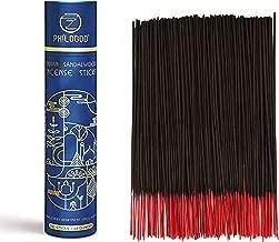 PHILOGOD Indian Incense Sticks Box,Hand Rolled,Sandalwood,Patchouli,100% Natural Pack of 200 Sticks