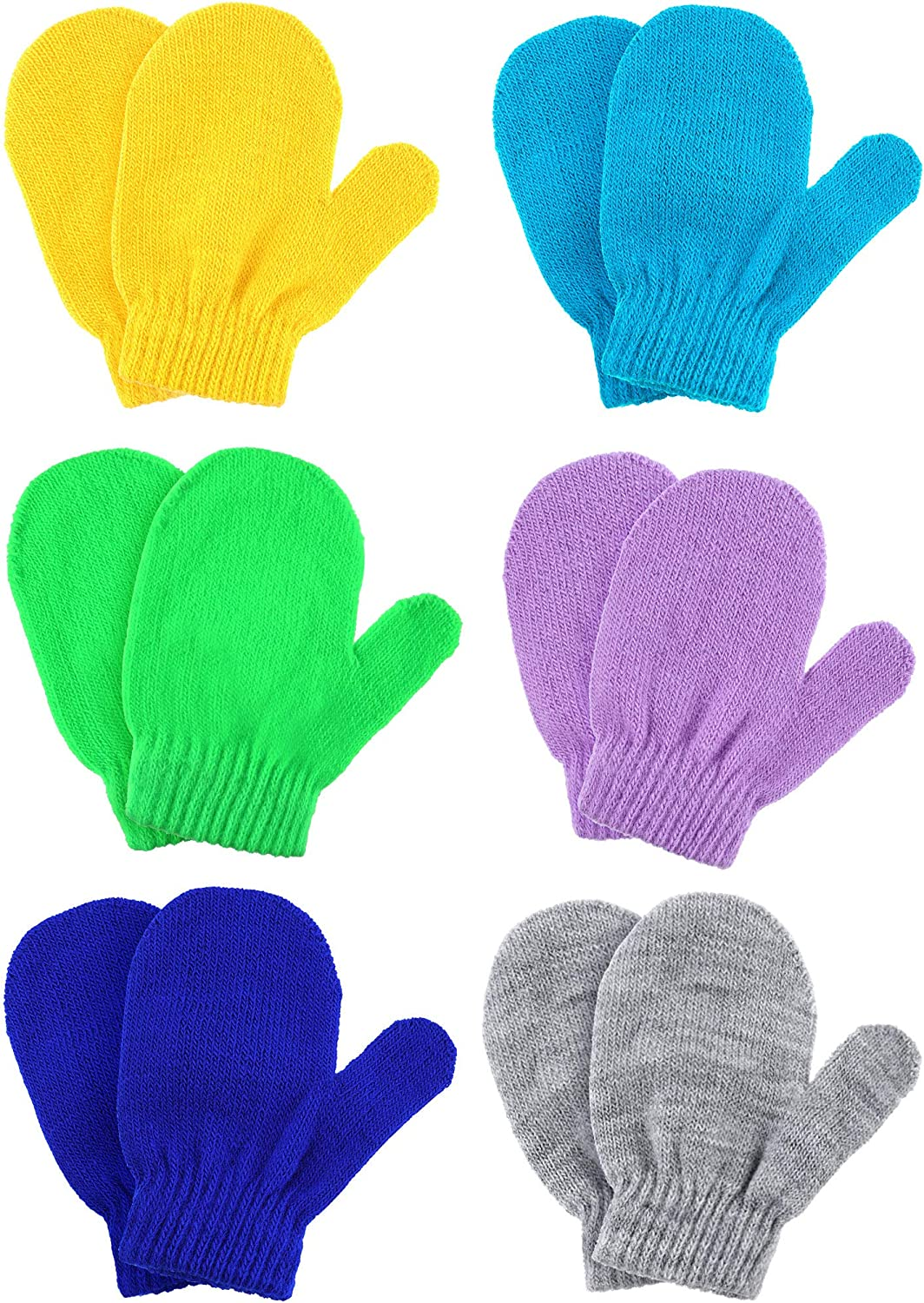 Bombing new work Boao 6 Pairs Winter Warm Stretch Max 42% OFF Gloves Knitted Mittens