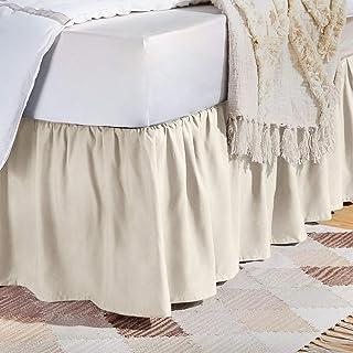 Amazon Basics Ruffled Bed Skirt - Twin, Off White