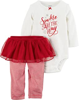 Baby Girls' 2 Piece Bodysuit and Tutu Pants Set