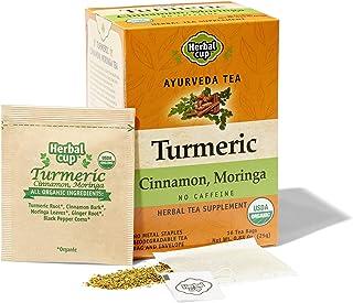 HERBAL CUP TURMERIC CINNAMON MORINGA TEA - 16 tea bags ORGANIC