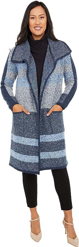 Banks Stripe Knit Long Cardigan