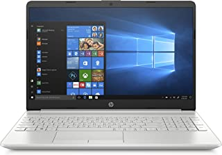 "HP 15-dw1007ne Intel core i3-10110U 4.1 GHz Laptop, 15.6"" FHD display, 4 GB RAM, 256 GB SSD, Windows 10 Home - Silver"