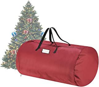 Tiny Tim Totes 83-DT5563 Canvas Christmas Storage Bag   Extra Large For 12 Foot Tree   Red, Twin