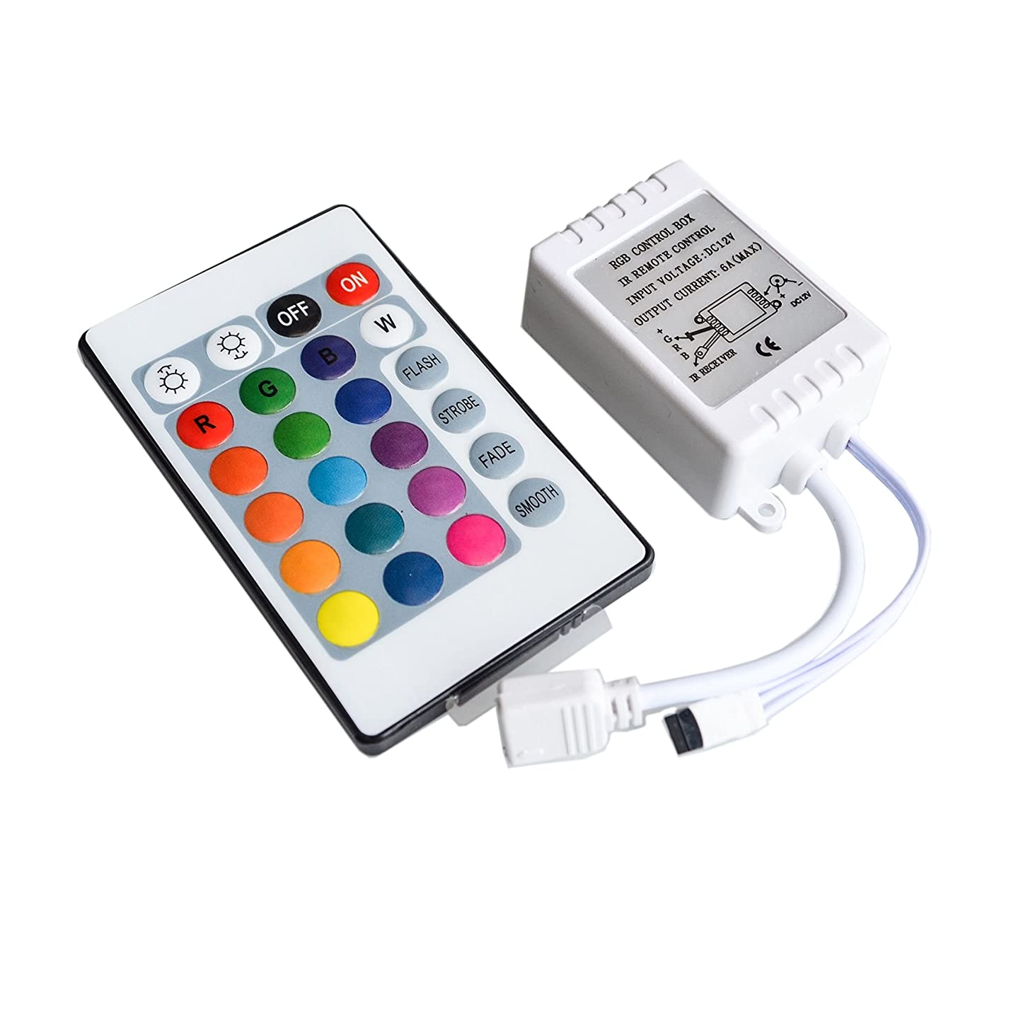 Chironal 24 Button LED Light Controller Wireless RGB Ir Remote 12v Dimmer for 5050 3528