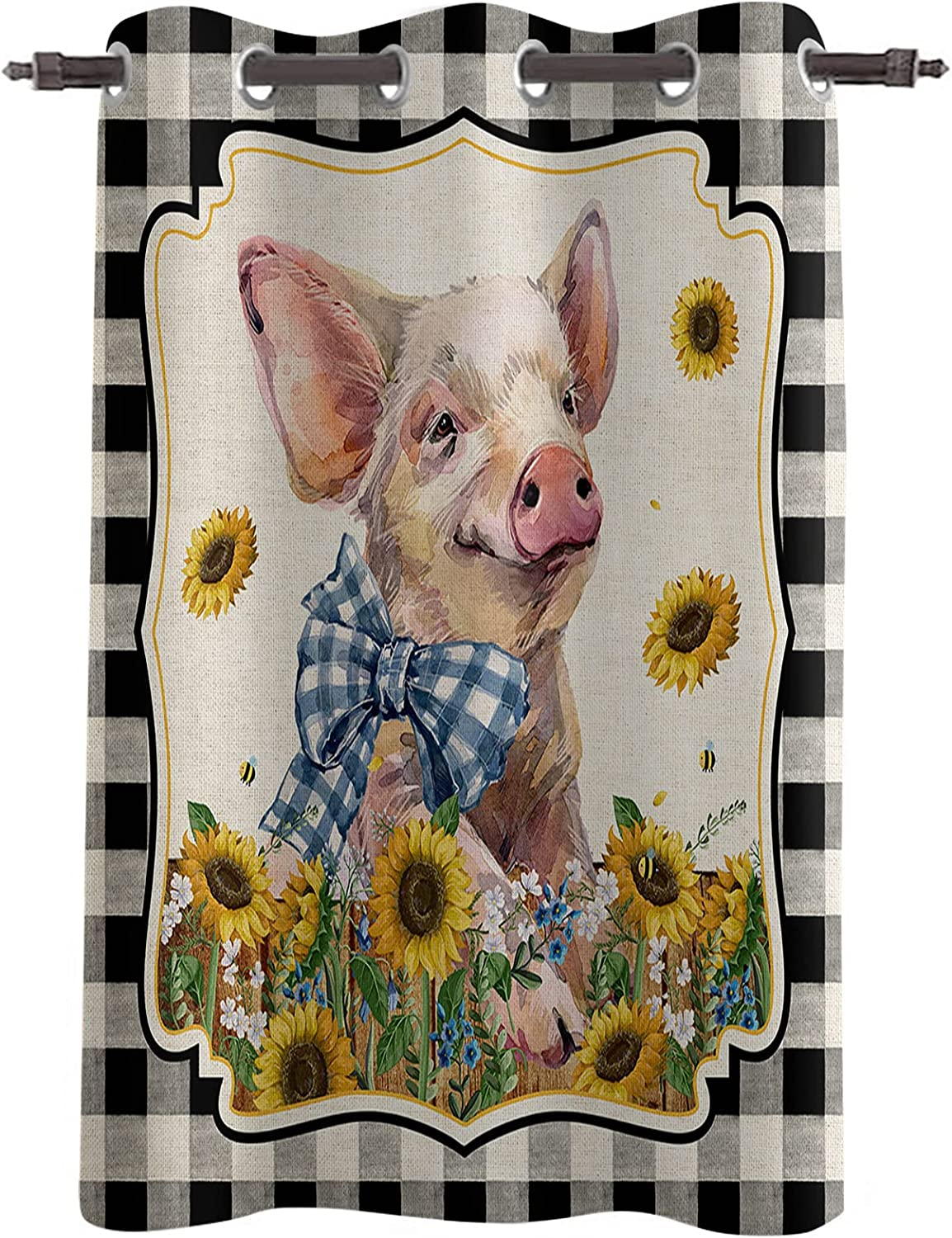 Window 2021 Curtains Blackout Curtain Panels for Washington Mall w Cute Bedroom Piggy