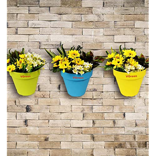 Vgreen Garden Store Wall And Grill Hanging Planter ( Pack Of 4) Multi Color