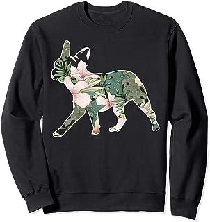 Fun Flower French Bulldog Gift Design Silhouette Idea Sweatshirt