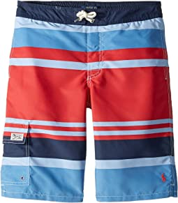 Kailua Striped Swim Trunks (Big Kids)