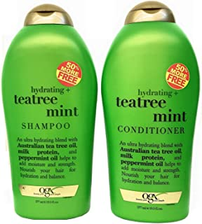OGX Organix Tea Tree Mint Shampoo 19.5 oz + Conditioner 19.5 oz DuoSet