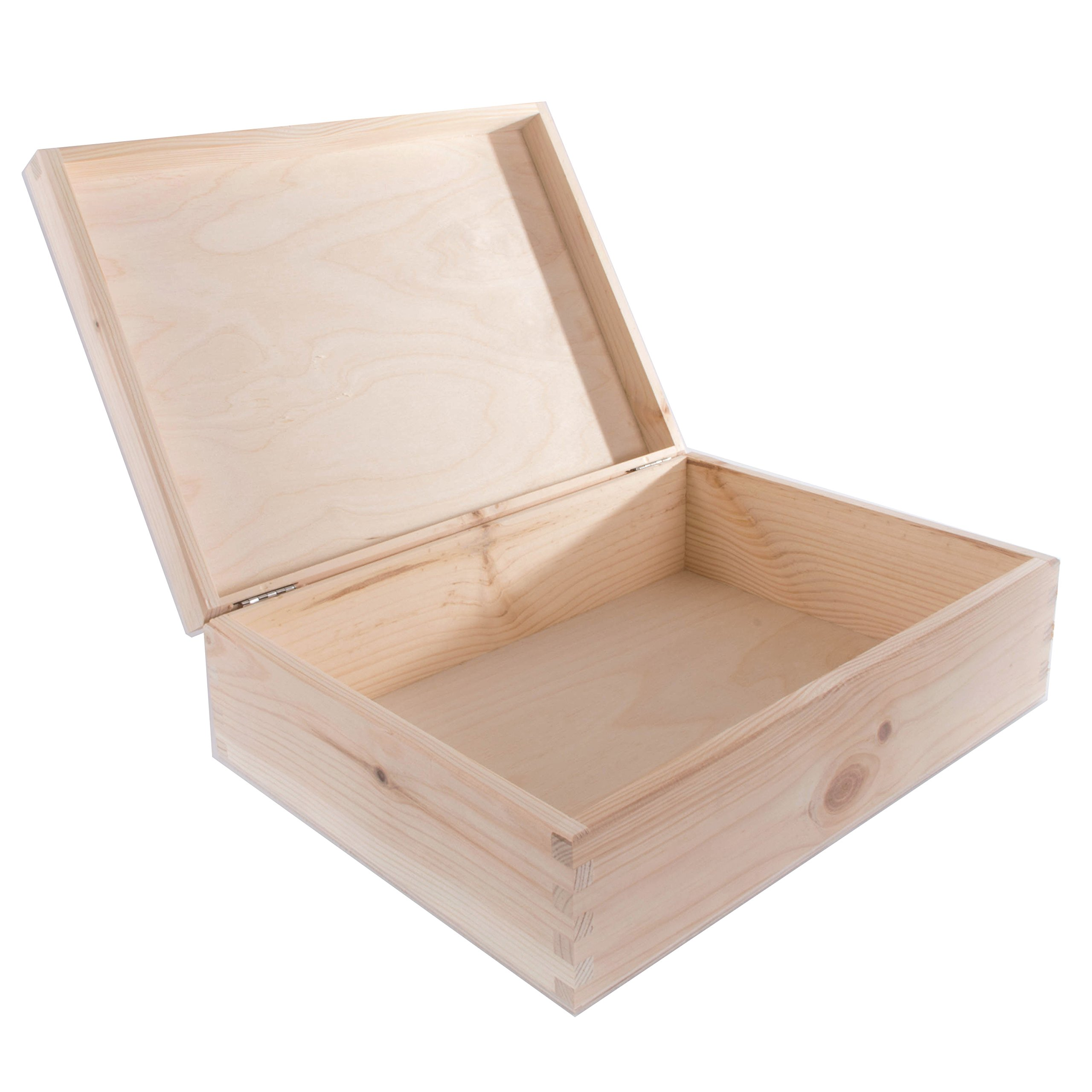 searchbox grande caja de madera con tapa con bisagra/sin pintar/de ...