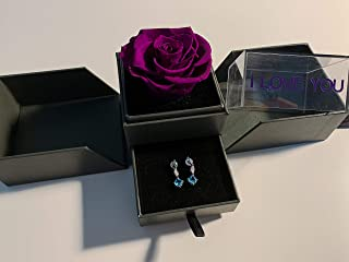 Preserved Rose Jewelry Box_Eternal Roses_Last for 3 Years (Royal Purple)