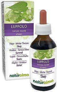 Hopfen Humulus lupulus Strobili weibliche Blüten Alkoholfreier Urtinktur Naturalma | Flüssig-Extrakt Tropfen 100 ml | Nahrungsergänzungsmittel | Veganer