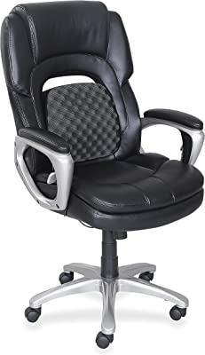 "Lorell Wellness by Design Chair, 46.8"" x 26.8"" x 30"", Black"