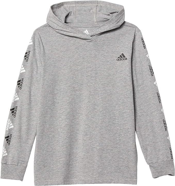 adidas Boys' Big Long Sleeve Hooded T-Shirt