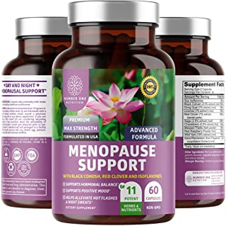 N1N Premium Menopause Support for Women [11 Powerful Ingredients] All Natural Menopause Relief and Hormone ...