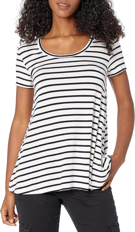 Daily Ritual Women's Jersey Short-Sleeve Scoop Neck Swing T-Shirt