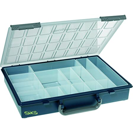 raaco 136211 Sortik. PSC vario-15 Assorter 55 - Caja organizadora (4 x 8-15), color azul oscuro